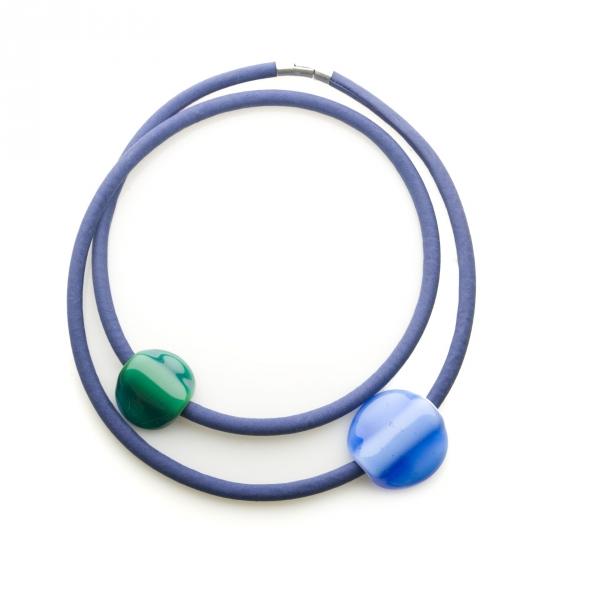 Collar Orbita Verde Oscuro-Azul