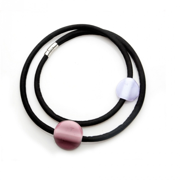 Collar Orbita Amatista-Lila