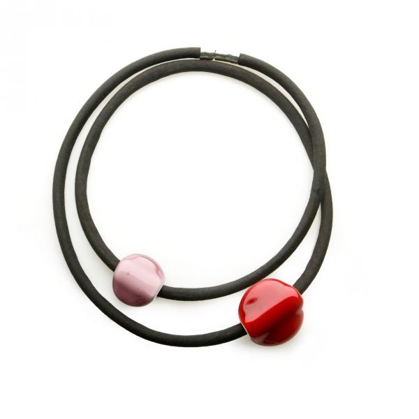 Collar Orbita Amatista-Rojo Rubí