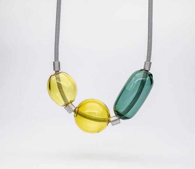 collar vidrio sopladp